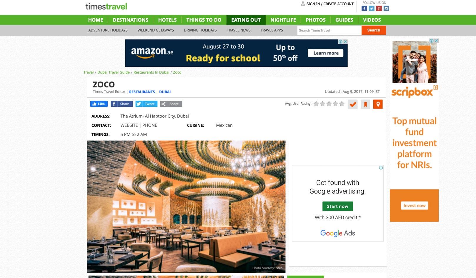 Zoco Dubai Publicity