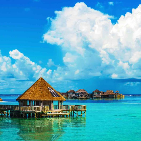 Maldives - Old wooden houses