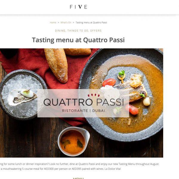 Quattro Passi - Five Hotels Dubai Publicity00001