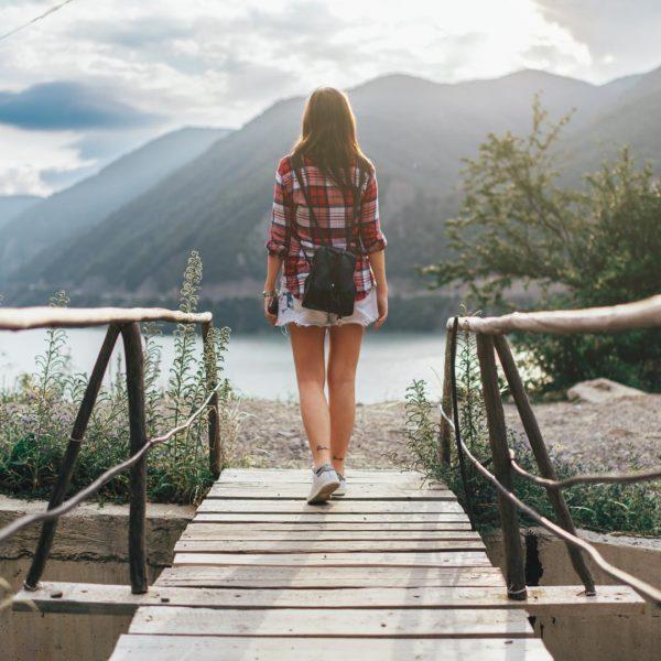 Georgia, Caucasus - Girl Walking