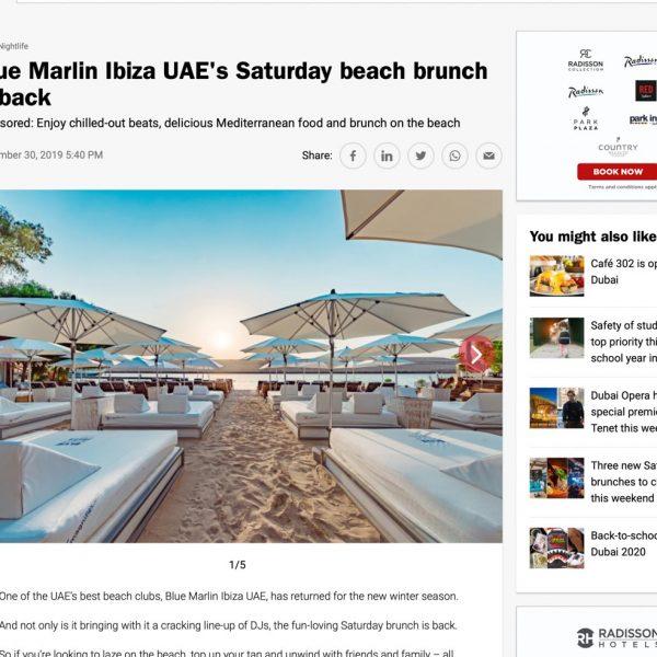 Blue Marlin ibiza UAE Publicity