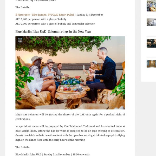 Blue Marline Ibiza UAE Publicity
