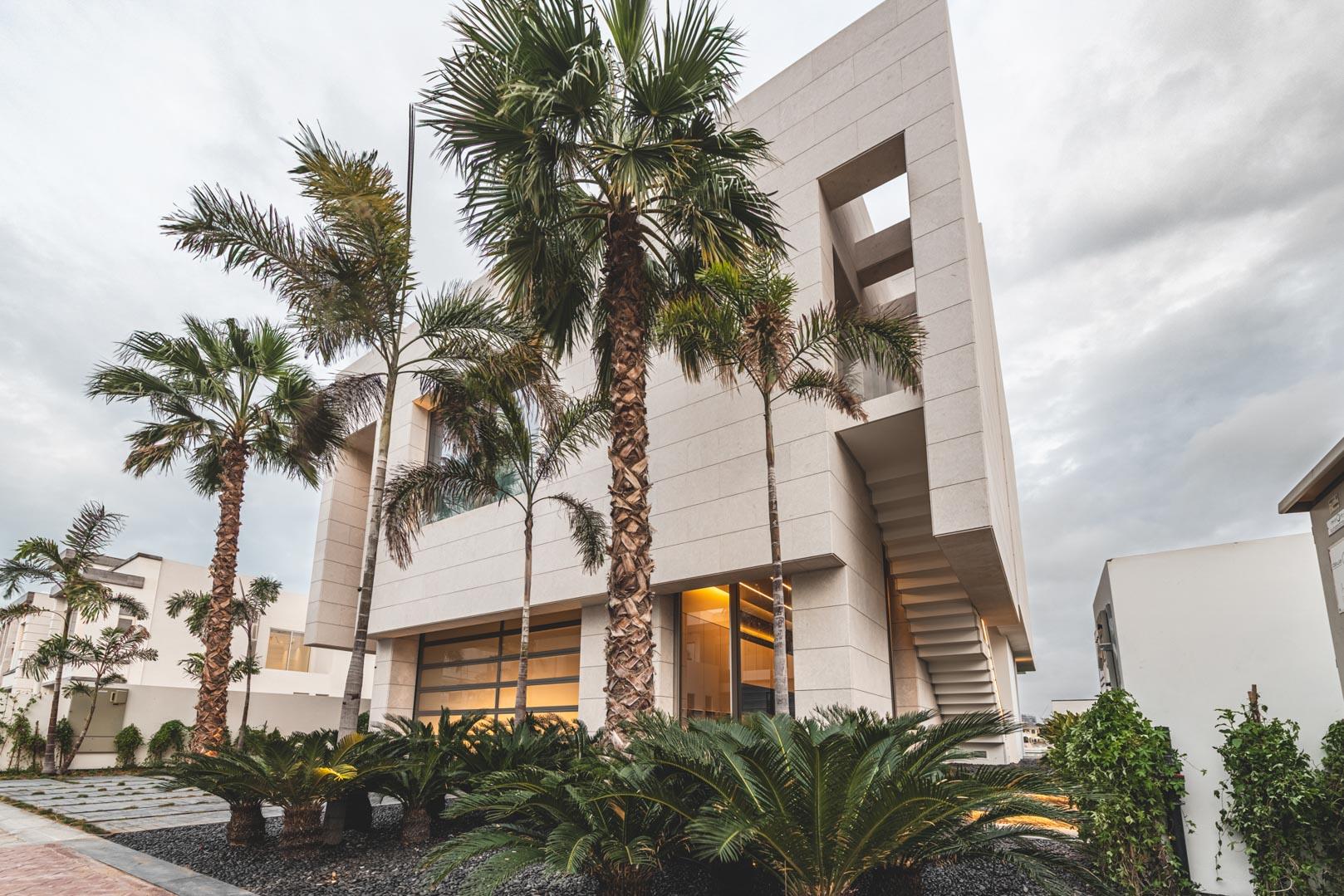 Architecture of luxury villa on Palm Jumeirah