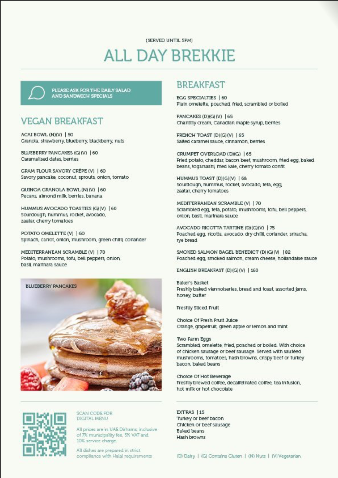 Five hotels and Resorts - The Delisserie cafe Publicity Menu print