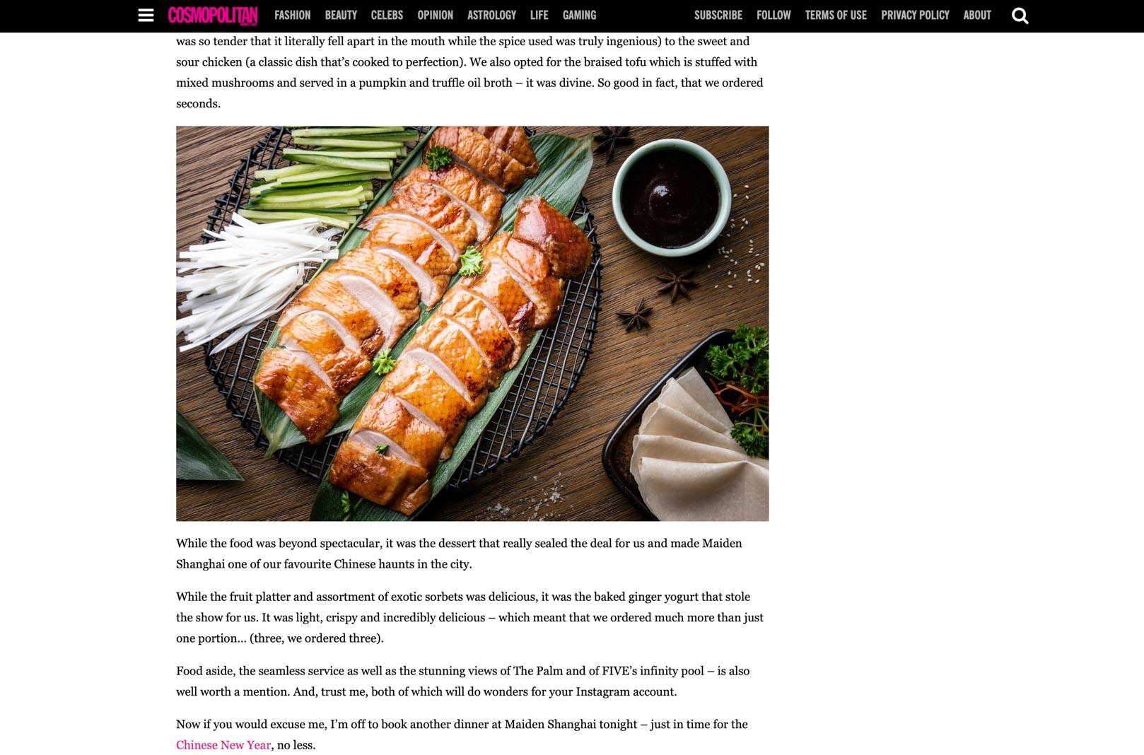 Maiden Shanghai Chinese Restaurant in Dubai Publicty00001
