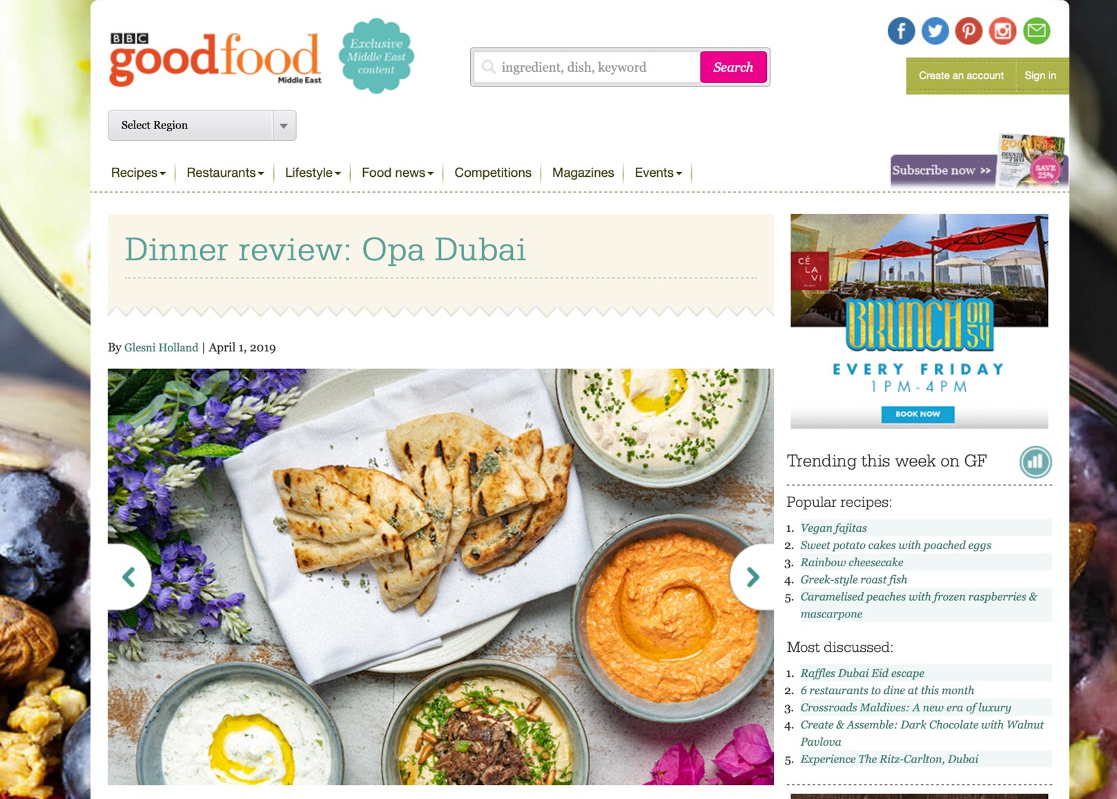 OPA Dubai - Food Photography Publicity
