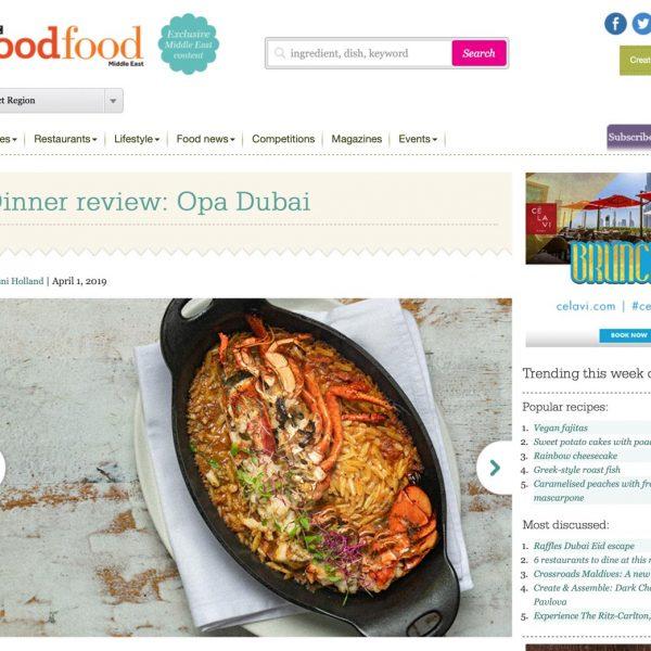 OPA Dubai - Food Photography Publicity